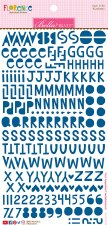 Florence Alphabet Stickers- Blueberry