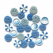 Button Fusion Buttons- Blues Medley