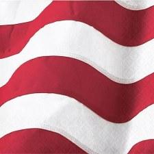 """Patriotic Flag Napkins, 5""""- 16ct"""