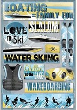 Cardstock Stickers- Boating