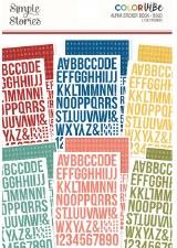 Color Vibe Alphabet Sticker Book- Bolds