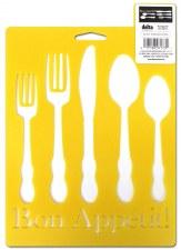 Stencil Mania 7x10 Stencil- Bon Appetit!
