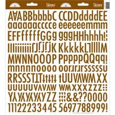 Skinny Alphabet Stickers- Bon Bon