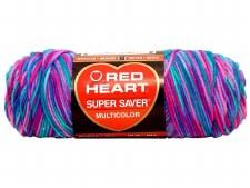 Red Heart Super Saver Yarn, Multi-Color- Bon Bon