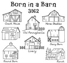 Aunt Martha's Iron On Transfers- Born in a Barn #3962