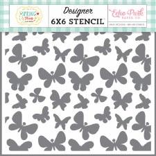6x6 Stencil- Bouncing Butterflies