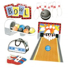 Jolee's Bowling Dimensional Stickers- Bowling Alley