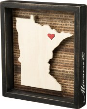 Wood Box Sign- Minnesota