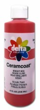Delta Ceramcoat Acrylic Paint, 8oz- Bright Red