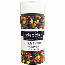 Confetti Sprinkles, 2.4oz- Bright Sequins