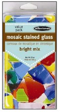Mosaic Stained Glass Pieces, 20oz- Brights