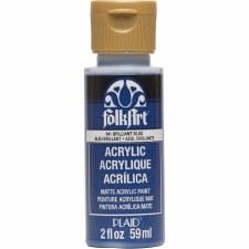 FolkArt 2oz Acrylic Paint: Blues- Brilliant Blue