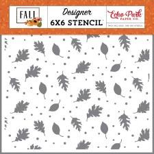 Fall 6x6 Stencil- Brisk Leaves