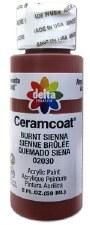 Delta Ceramcoat Acrylic Paint, 2oz- Browns: Burnt Sienna