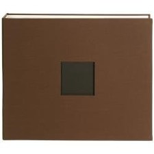 American Crafts D-Ring Cloth Album- Brown