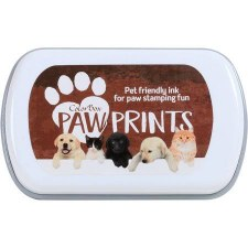 Paw Prints Pet Friendly Ink- Brown