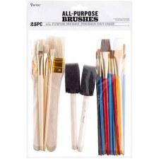 All Purpose Brush Set, 25pc