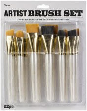 Artist Brush Set, 12pc