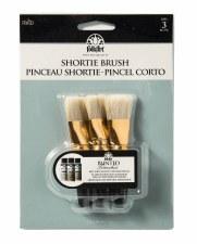 """FolkArt Shortie Brush, 3pk- 1"""""""