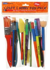 Craft & Hobby Brush Value Pack, 25ct