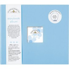 Doodlebug 12x12 Storybook 3-Ring Album- Bubble Blue