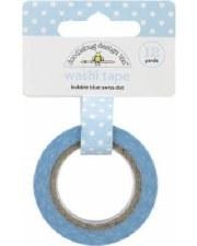 Doodlebug Washi Tape- Swiss Dots- Bubble Blue