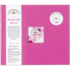 Doodlebug 12x12 Storybook 3-Ring Album- Bubblegum