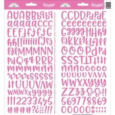 Abigail Alphabet Sticker- Bubblegum