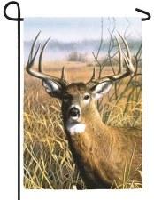 Garden Flag, Suede- Buck in a Meadow