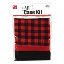 Pillowcase Kit- Red & Black Buffalo Check