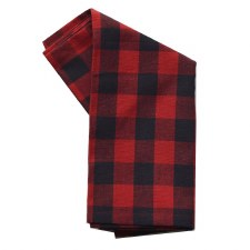 "Buffalo Check 20""x28"" Tea Towel- Black & Red"