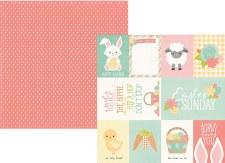 Bunnies & Baskets 12x12 Paper- 4x6 & 3x4 Elements