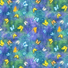 Bunny Meadow Bolted Fabric- Dancing Butterflies