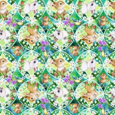 Bunny Meadow Bolted Fabric- Packed Medallions