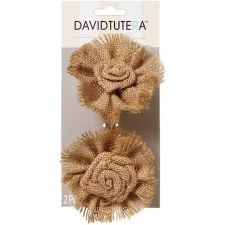 Accent Picks- Burlap Flowers, Large