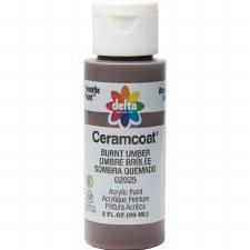 Delta Ceramcoat Acrylic Paint, 2oz- Browns: Burnt Umber