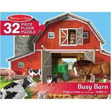 Melissa & Doug Jigsaw Puzzle- Busy Barn Shaped