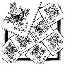 Aunt Martha's Iron On Transfers- Butterflies & Cross Stitch #3437