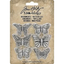 Tim Holtz Metal Embellishments- Butterflies Adornments