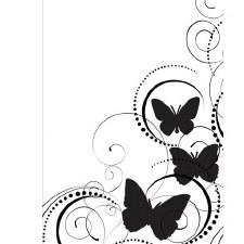 Darice Embossing Folder- Nature- Butterflies in Corner