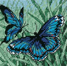 """Dimensions Needlepoint Kit, 5""""x5""""- Butterfly Duo"""