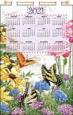 Jeweled 2021 Calendar - Butterfly Garden