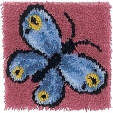 Latch Hook 12x12 Kit- Butterfly