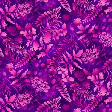Butterfly Paradise Bolted Fabric- Silhouettes, Purple