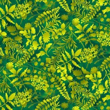 Butterfly Paradise Bolted Fabric- Silhouettes, Green