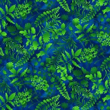 Butterfly Paradise Bolted Fabric- Silhouettes, Royal