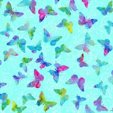 Butterfly Paradise Bolted Fabric- Mini Butterflies, Blue