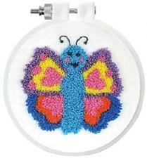 """Punch Needle Kit w/ Hoop, 3.5""""- Butterfly"""