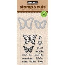 Hero Arts Stamp & Cut Set- Butterflies