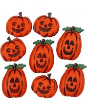 Dress It Up Buttons- Halloween, Jack O'Lanterns